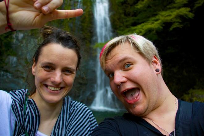 Natalie & I. Waterfall Selfie